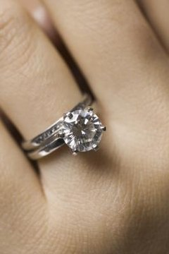 Genuine diamonds are often used in wedding rings.