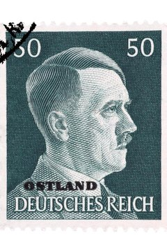 Adolph Hitler on a German stamp in 1939
