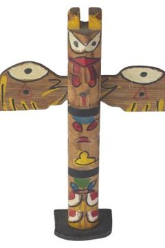 Totem poles are Native American sign posts.