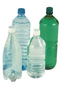 Plastic water bottles can be easily cut  into small pieces.