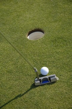 Even short putts can be difficult, depending on slopes and gradients.