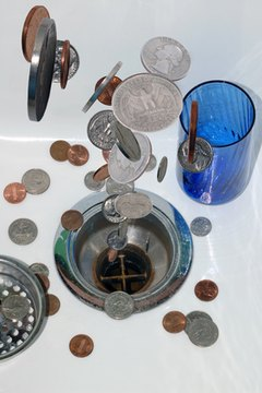 Poor money management means pouring money down the drain.
