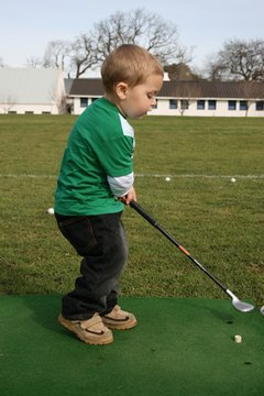 Kids can start golfing at an early age.