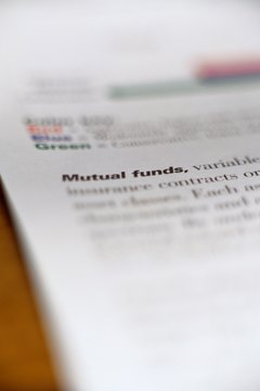 A mutual fund is a mix of investments, including bonds and stocks.