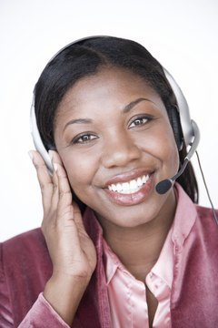 Customer service reps in call centers use their voices to convey confidence and empathy.