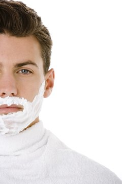 Allow shaving cream to penetrate the skin for a minute before shaving.
