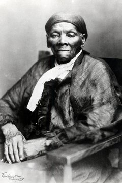 "Escaped slave Harriet Tubman was a ""conductor"" on the Underground Railroad"