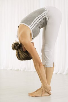 Forward Bend stretches the spine and stimulates circulation.