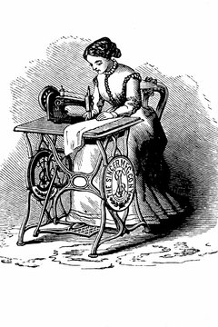 your vintage Singer treadle sewing machine