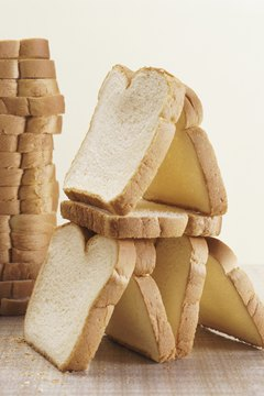 Foods mostly composed of simple sugars, such as white bread, can slow the metabolism.
