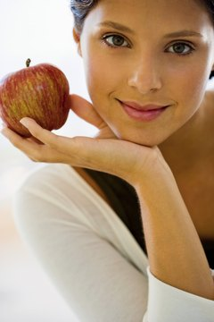 One large apple supplies more than 5 grams of fiber.