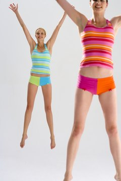 Jumping jacks help you burn calories and tone your muscles.