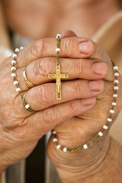 The string of 59 beads used for the rosary service is also referred to as a rosary.