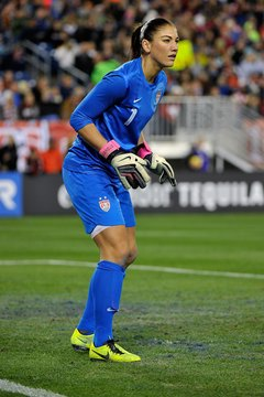 Goalkeeper Hope Solo led the U.S. Women's National team to Olympic glory.