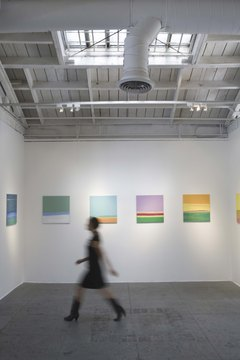 Days -- and nights -- go by in a blur for busy gallery assistants.