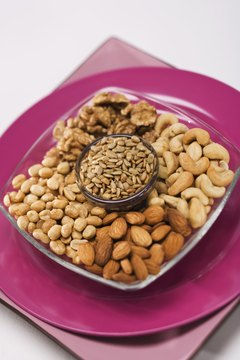 Nuts and seeds contain healthy fats.