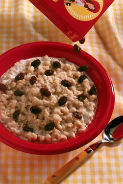 Adding raisins increases the phosphorus content of your breakfast.