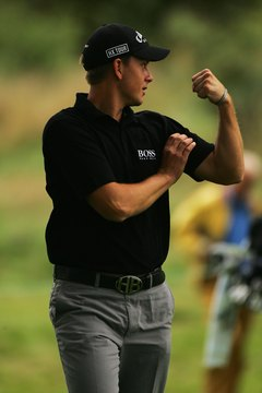 A golf swing uses muscles from the upper body and torso, down to the legs.