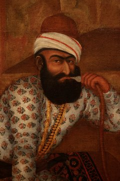 Detail of an 18th-century painting from the Aga Khan Museum.