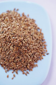 Whole flax seeds are a great source of fiber and omega-3 fatty acids.