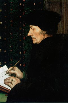 Dutch scholar Desiderius Erasmus (1466-1536) was an early influence on humanist thought.