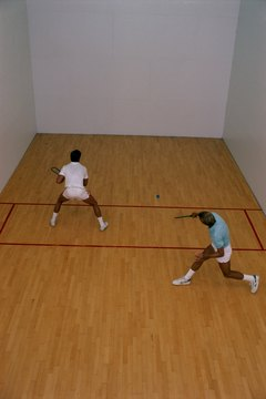 Racquetball courts provide a small amount of space, but you cover a lot of ground.