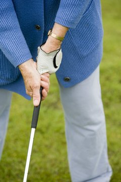 The club should feel natural in your hands when the grip is aligned correctly.