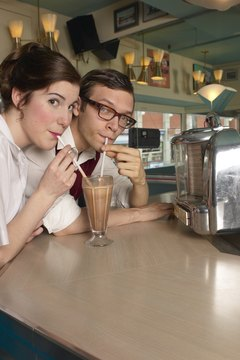 Milkshakes at diners were a popular trend in the 1950s.