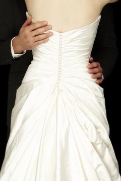 Strapless wedding gowns are a popular choice for brides.