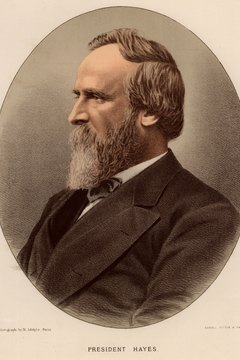 Republican President Rutherford B. Hayes, elected in 1877, came to exemplify the Republican switch away from reconstruction and towards big business interests and civil service reform.