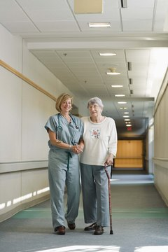 Nurses work in a variety of settings, including hospitals and nursing homes.