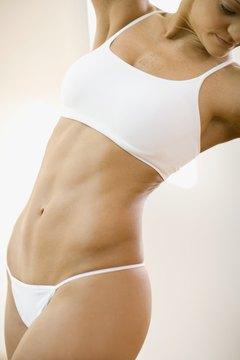 Move your body and eat right to show off a flat stomach and cinched midsection.