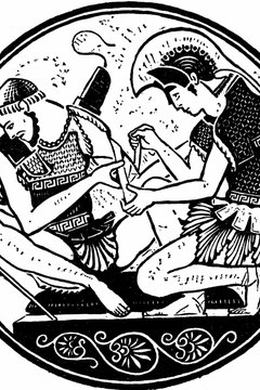 Achilles desecrated Hector's body after Hector killed Patroclus.