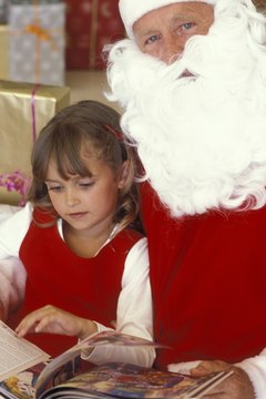 Create a story with your little munchkin to share with Santa at Christmas.