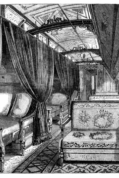 Pullman sleeping cars became increasingly lavish.