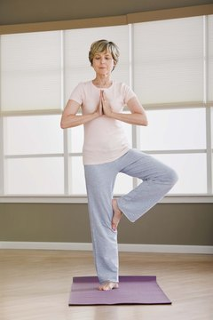 Yoga helps banish menopause symptoms.
