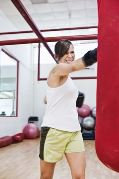 Boxing is good for burning calories and letting off steam.
