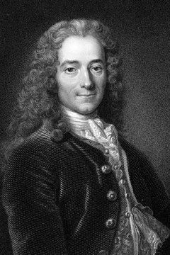 The Enlightenment philosopher Voltaire was one of the most vociferous questioners of Catholic doctrine.