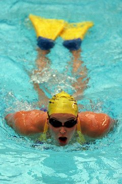 Burn extra calories by adding few laps of the butterfly with fins.