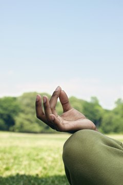 The chin mudra represents the union between divine and individual consciousness
