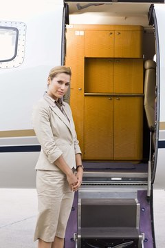 Air hostesses have both service and safety responsibilities on airplanes.