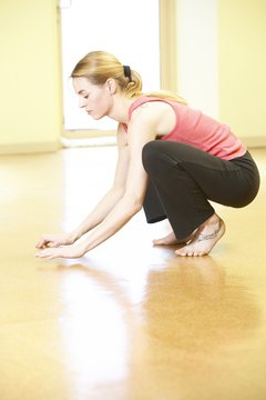 Poor ankle dorsiflexion will prevent your heel from touching the floor as you squat.