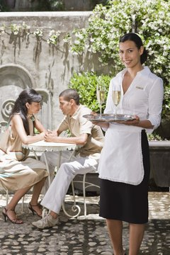 Waitresses may help set up and serve at functions and special banquets.