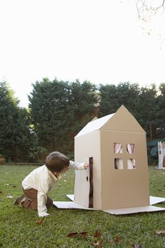 Young children can learn about the building blocks of houses.