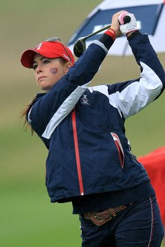 Conceding a hole is sometimes a part of match play, as seen here during Solheim Cup Play.