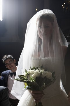 The custom of the bridal veil began in Italy.