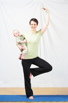 You can even incorporate your baby into your yoga practice.