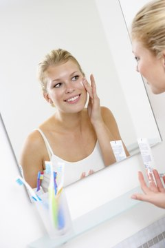 Adopt a simple skincare routine to care for combination skin.