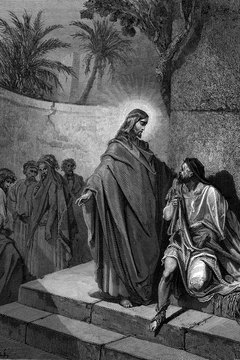 Stories of the Bible depict Jesus healing the sick with a touch and a blessing.