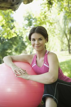 Tone the major muscle groups with a stability ball.